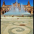Séville : ronds d'eau et arc en ciel