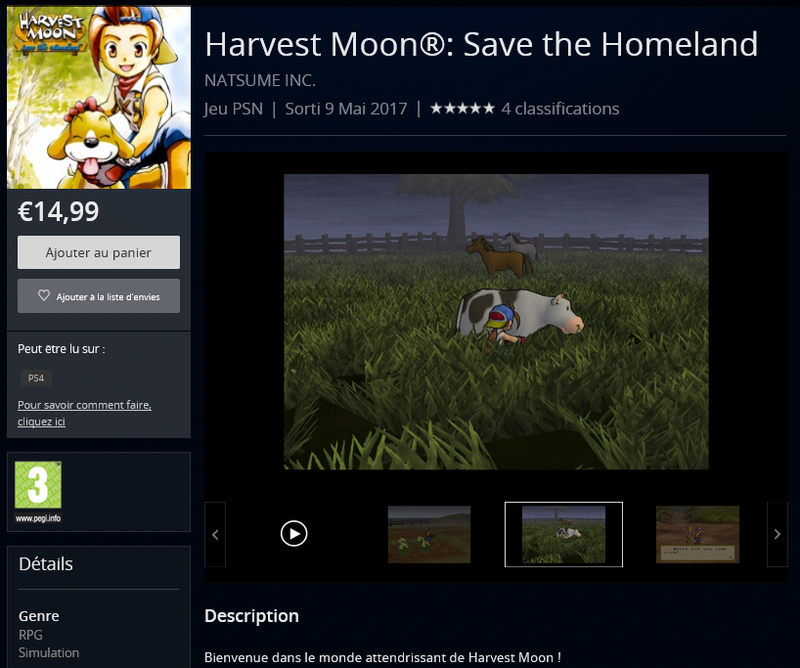 Harvest Moon PS2PS4