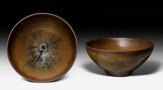 Two Jianyao bowls, China, Song dynasty