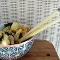 Kale aux nouilles et crevettes