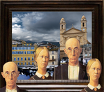 Grant Wood American Gothic Obsession Four