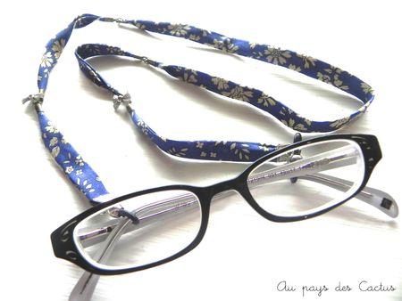 Cordon à lunettes biais Liberty Au pays des Cactus 1