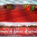 Bavarois de fraises et spéculoos