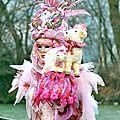 Carnaval vénitien annécien (3) camaïeu rose..parme...fuchsia...violet...
