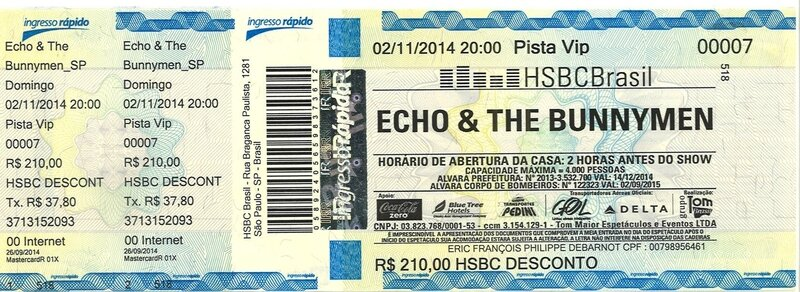2014 11 Echo and the Bunnymen HSBC Brasil SP billet