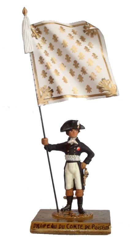 Drapeau de comte de Puiseux (guerre de 1832)