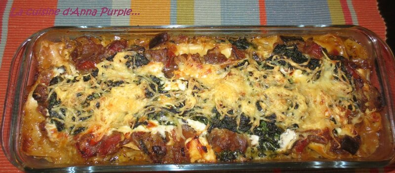 LA CUISINE D'ANNA PURPLE Lasagnes aux legumes light