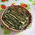 Tarte aux asperges vertes et aux champignons, sans gluten, sans lait
