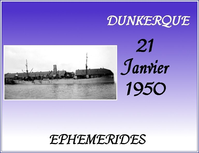 EPHEMERIDES 21 JANVIER 1950 MARYLEN