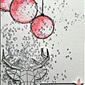 Une petite carte toute douce aux couleurs du challenge de décembre by nadscrap