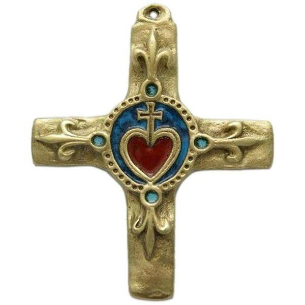 crucifix-croix-religieuse-bronze-emaille-sacre-coeur-fleur-lys-ti060