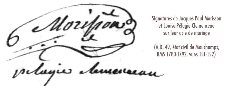 Signatures Morisson Clemenceau