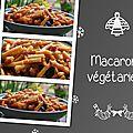 Macaronis végétariens