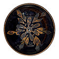 A russet-painted black-glazed 'snowflake' bowl, song dynasty (960-1279)