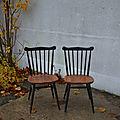 Paire de chaises de type tapiovaara