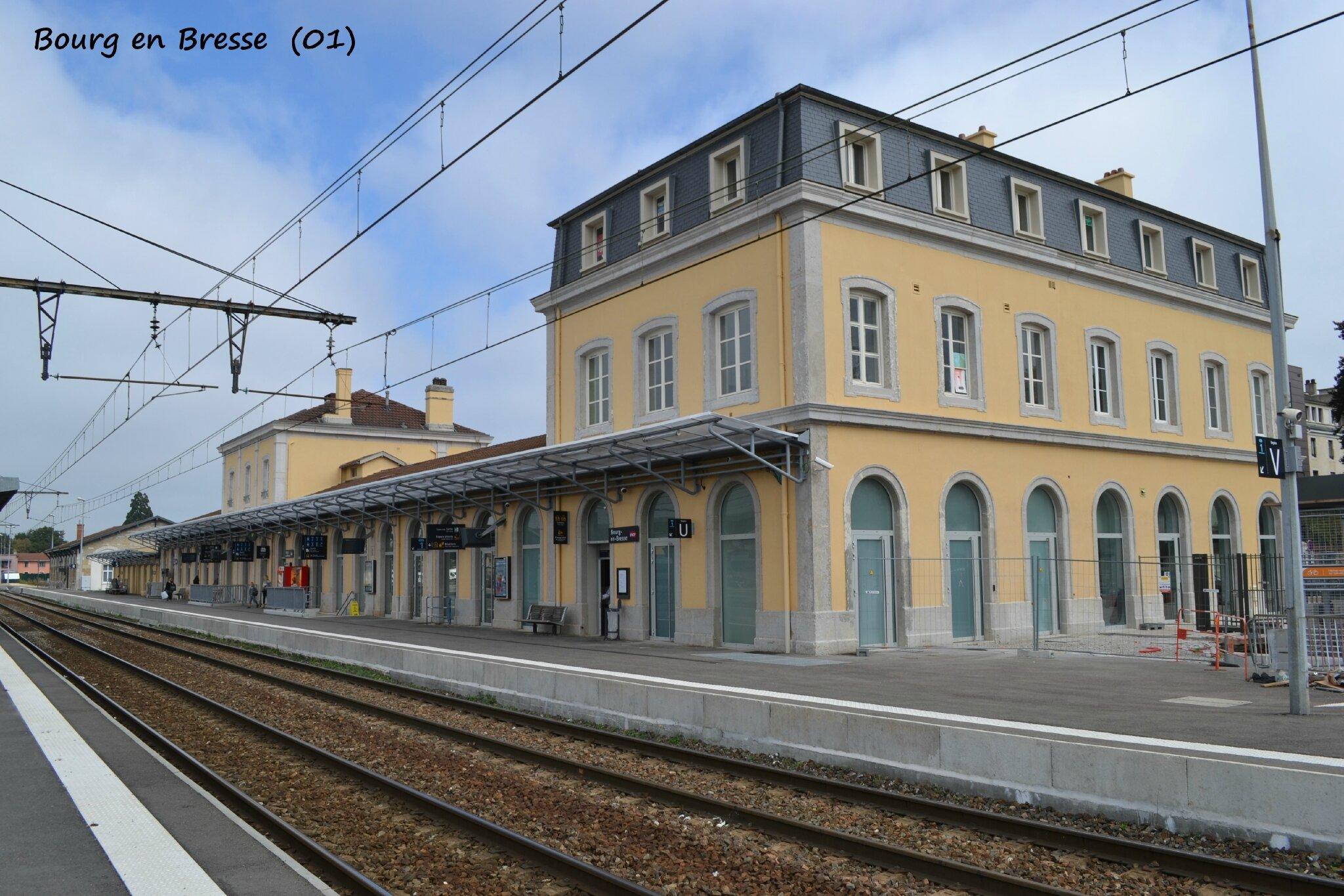 La gare de Bourg en Bresse (01) - Les gares de France et leurs ...