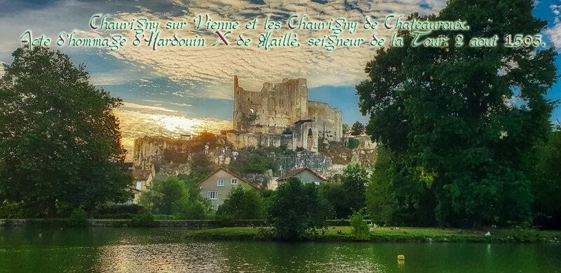 Chauvigny sur Vienne et les Chauvigny de Chateauroux. Acte d'hommage d'Hardouin X de Maillé, seigneur de la Tour. 2 aout 1503.