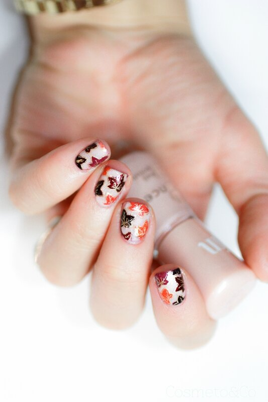 reverse stamping feuilles mortes automne_-5