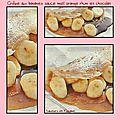Crêpes aux bananes sauce miel orange rhum et chocolat
