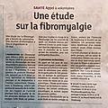 Fibromyalgie et soins en 2019