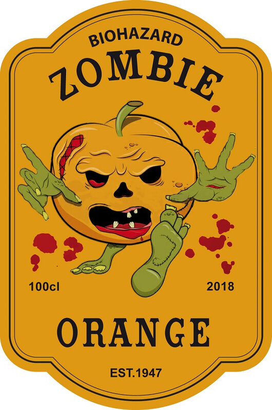 label zombie orange virus