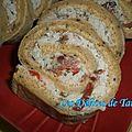 Biscuit roulé salé, farci à la rillette de thon