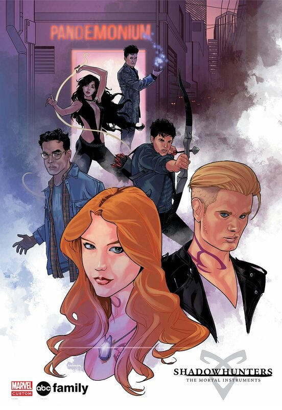 Shadowhunters TV MARVEL poster New york Comic Con