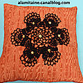 coussin Catherine orange 11