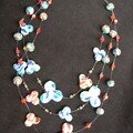 Collier avec perles en recto verso, autre vue