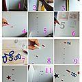 Idée déco pour chambre d'enfant : faire une toise en stickers !