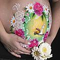 Maquillage corporel pré-natal