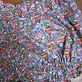 Culotte BIANCA en coton gris imprimé mongolfières multicolores - noeud vichy vert (2)