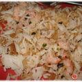 Riz au crevettes aux huiles essentielles thaï