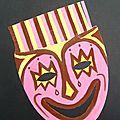 Masque Pleure de rire peinture gouache laProf - Expression très content
