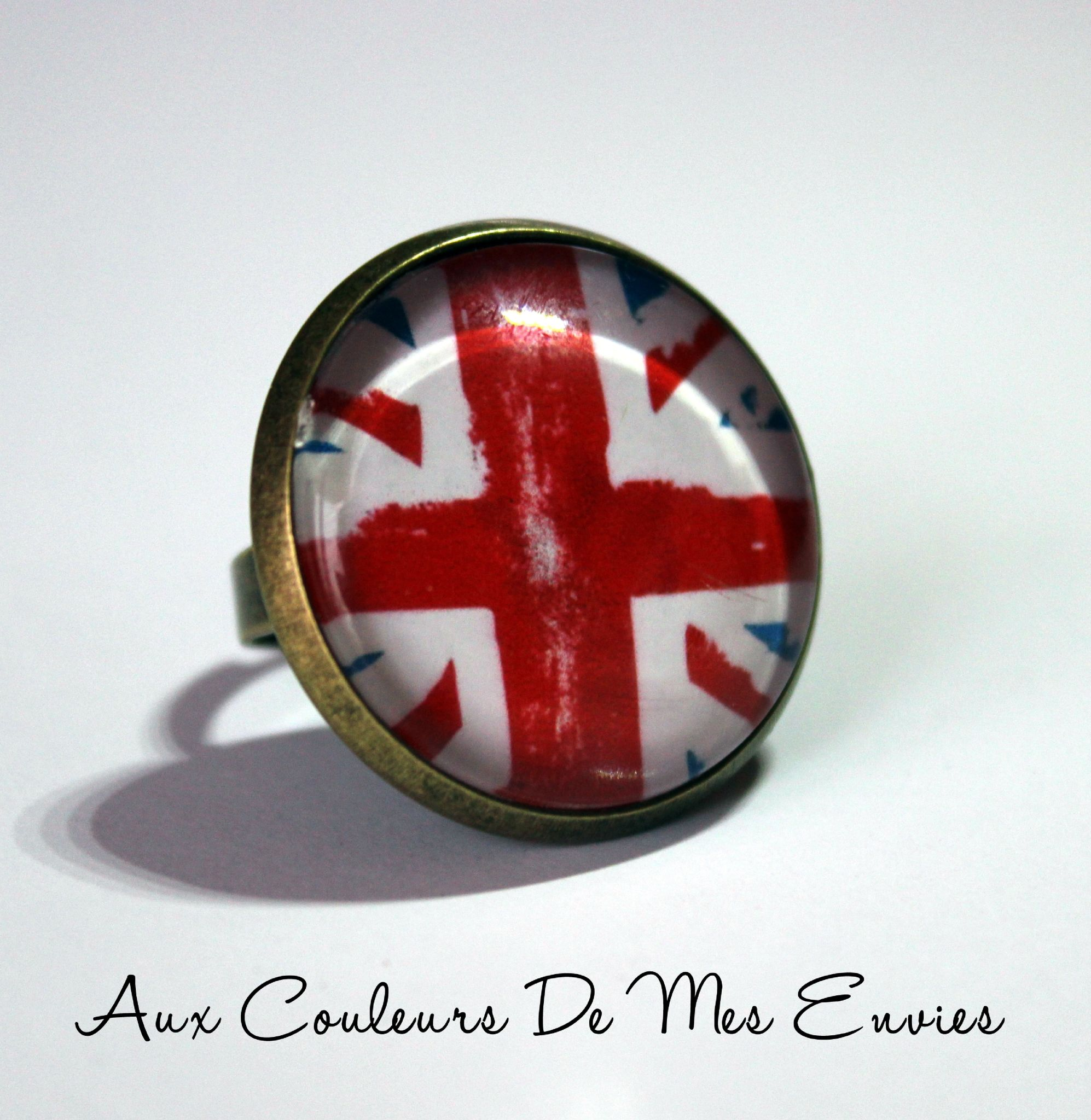 BAGUE UNION JACK 25MM