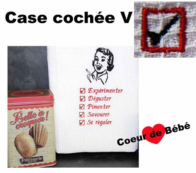 case cochée V