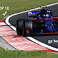 Gasly top 10 @4.5 sur le hungaroring !