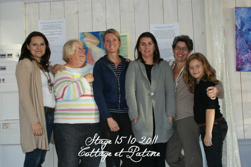 Photo groupe stage patines Cottage et Patine 15 10 11