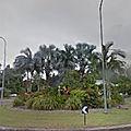 Rond-point à palm cove (australie)