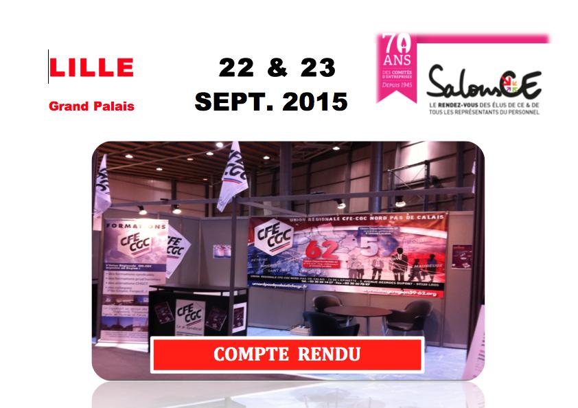 Véritable succès du Stand CFE-CGC NPDC au Salon des CE de Lille !