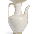 A rare cizhou white glazed ewer, northern song-jin dynasty (960-1234)