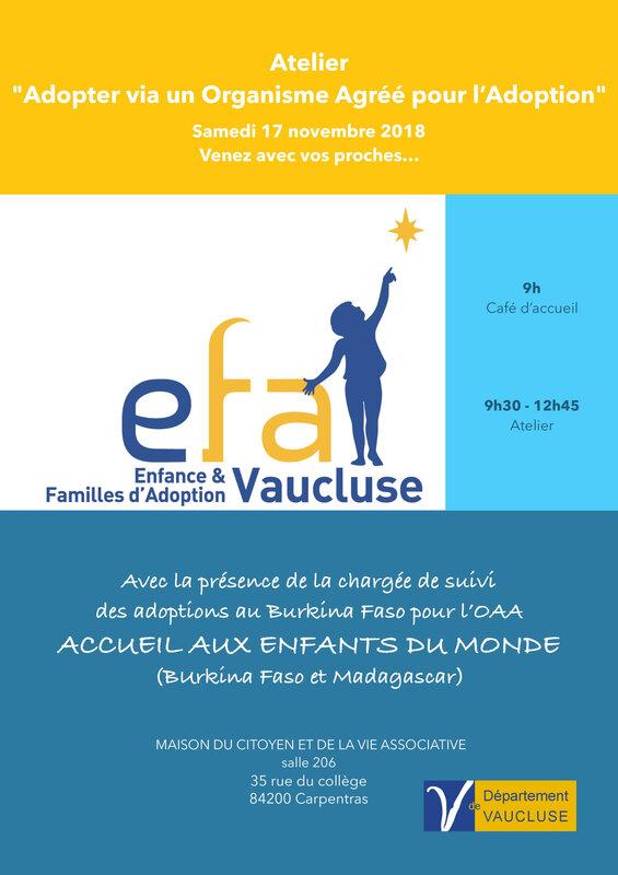 Atelier EFA 84 ADOPTER VIA UN ORGANISME AGRÉÉ POUR L ADOPTION - Samedi 17 novembre 2018-page-001