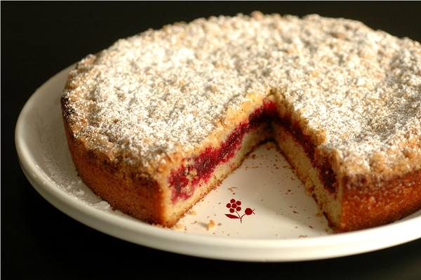 Gâteau crumble vanille-canneberges_2