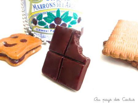 Gourmandises fimo macaron cookie chocolat BN Au pays des Cactus 3