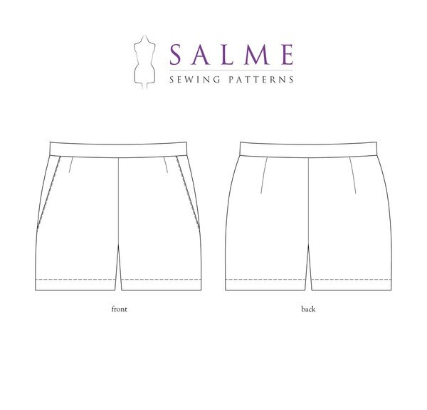 Salme Patterns - Shorts With Side Zipper