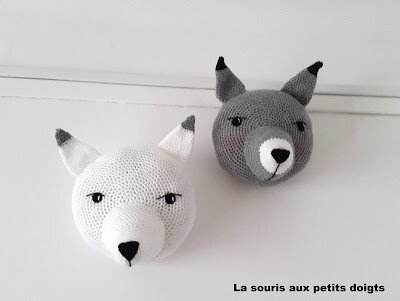diy-renard-loup-trophée-crochet