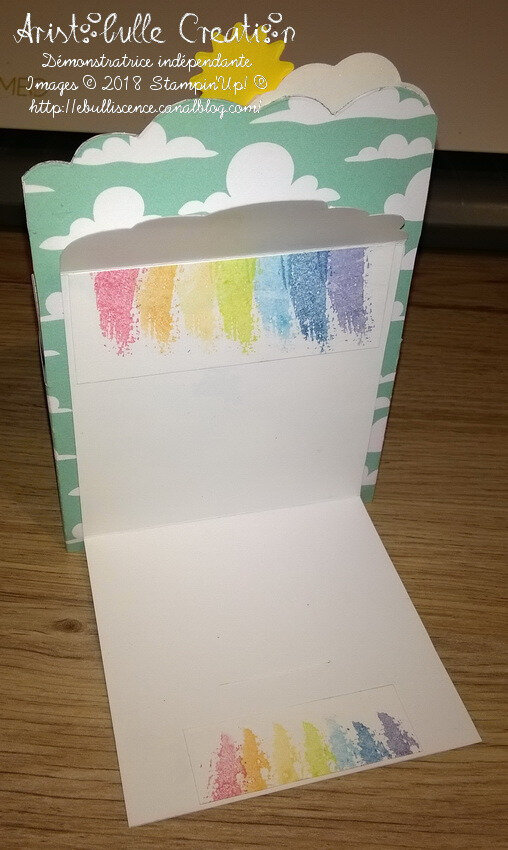 Card-in-a-box licorne arc-en-ciel - message
