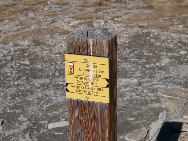le Col de Chamoussière...