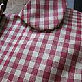 Ciré AGLAE en coton enduit à carreaux rouge et beige (7)