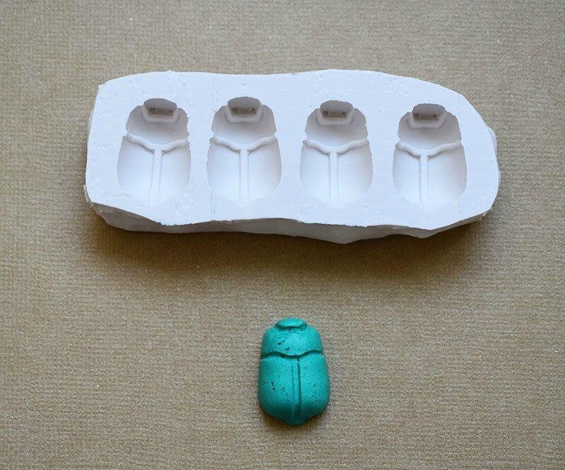 moule silicone scarabée égyptien